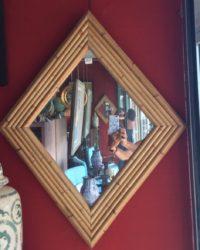 Miroir Losange En Bambou