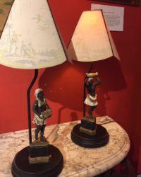 Paire De Lampes Nubiens